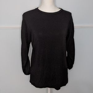 Jane and Delancey-Black Long Sleeved top EUC S